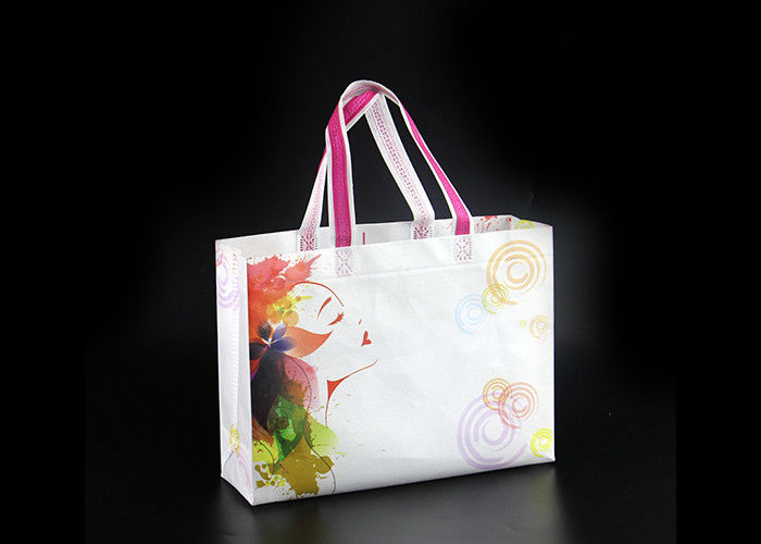 Eco Friendly Foldable Non Woven Tote Bags With Logo , Non Woven Carry Bags